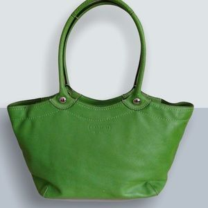 Coach Legacy Bleeker F14383 Green Leather Tote